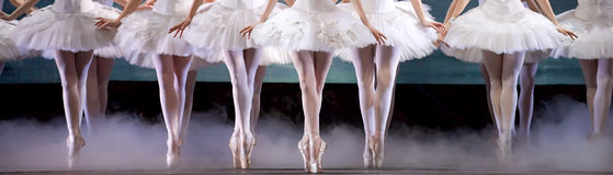 Legs of ballerina Royalty Free Stock Photos