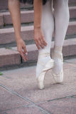 The legs of a ballerina Royalty Free Stock Photography
