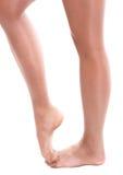 Legs of ballet dancer girl royalty free stock images