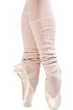Legs in ballet shoes 1. Legs in ballet shoes on a white backgrounde royalty free stock photography