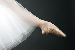 Legs in ballet shoes Stock Photos