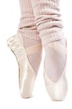 Legs in ballet shoes 7. Legs in ballet shoes on a white backgrounde royalty free stock photos