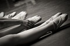 Legs in ballet slippers Royalty Free Stock Photo