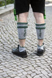 Legs of bavarian man Royalty Free Stock Images