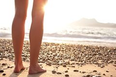 Legs on a beach Stock Photography