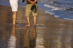 Legs in beach Royalty Free Stock Photo