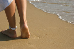 Legs on a beach Royalty Free Stock Image
