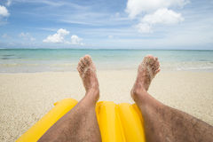 Legs on the beach Royalty Free Stock Photography