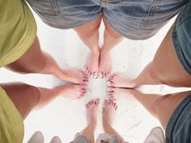 Summer people walk feet Royalty Free Stock Photography