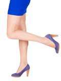 Legs of beautiful woman isolated Royalty Free Stock Images