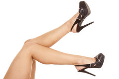 Legs in black heels Royalty Free Stock Photos