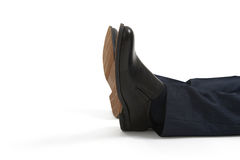 Legs in black shoes Royalty Free Stock Photography
