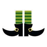 Legs boot leprachaun socks stripes st patrick day Stock Photos