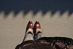 Legs in boots Royalty Free Stock Photo