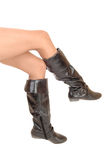 Legs in boots. Stock Images