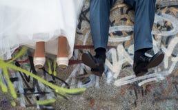 Legs bride and groom Stock Image