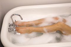 Legs bubbles stock photo
