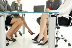 Legs at business meeting Royalty Free Stock Photo