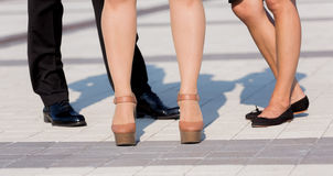 Legs of business people Stock Photography
