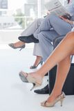 Legs of business people Stock Images