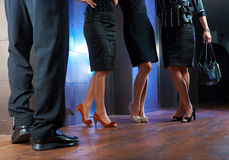 Legs of businesspeople Stock Image