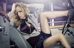 Legs & car Stock Image