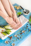 Legs care in spa Stock Image