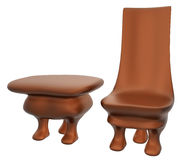 3 Legs Chair and Table_Raster Stock Photos