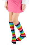 Legs with colored stockings Royalty Free Stock Photos