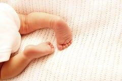 Legs cute newborn little baby Royalty Free Stock Photos