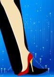 Legs dance. Beautiful womanish and masculine legs dance Stock Photo