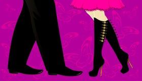 Legs dance Royalty Free Stock Image
