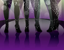 Legs dancers royalty free stock image