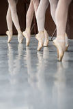 Legs dancers on pointe Stock Photo