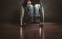 Legs of disabled person. Royalty Free Stock Photo