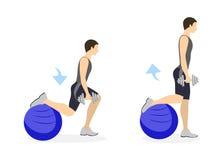 Legs exercise for men. royalty free illustration