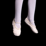 Legs and feet of little ballerina in pointe Stock Images