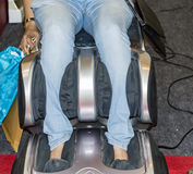 Legs and feet massage chair Royalty Free Stock Photos