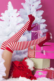 Legs of female santa Royalty Free Stock Images