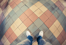 Legs on a floor Royalty Free Stock Images