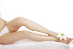 Legs with flower Stock Images