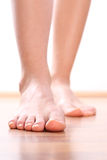 Legs Foot stepping closeup Stock Photos