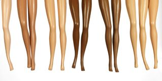 Legs From Dolls Stock Image