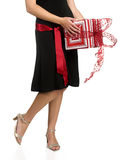 Legs and Gifts Royalty Free Stock Images