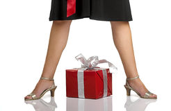 Legs and Gifts Stock Images