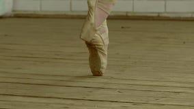Legs girls in pointe slow motion video stock footage