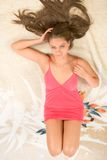 Legs and hair Royalty Free Stock Photography