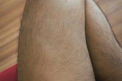Legs hair of asian man close up. Legs hairs of asian man,close up stock photos