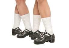 Legs in hard shoes for irish dancing Stock Photos
