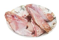 Legs of hare on the plate Royalty Free Stock Image